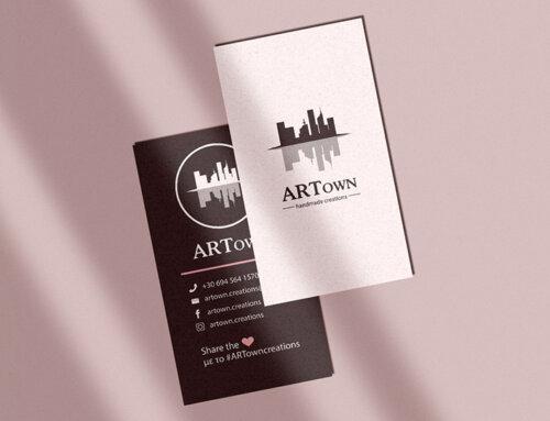 Επαγγελματική κάρτα για την επιχείρηση ARTown