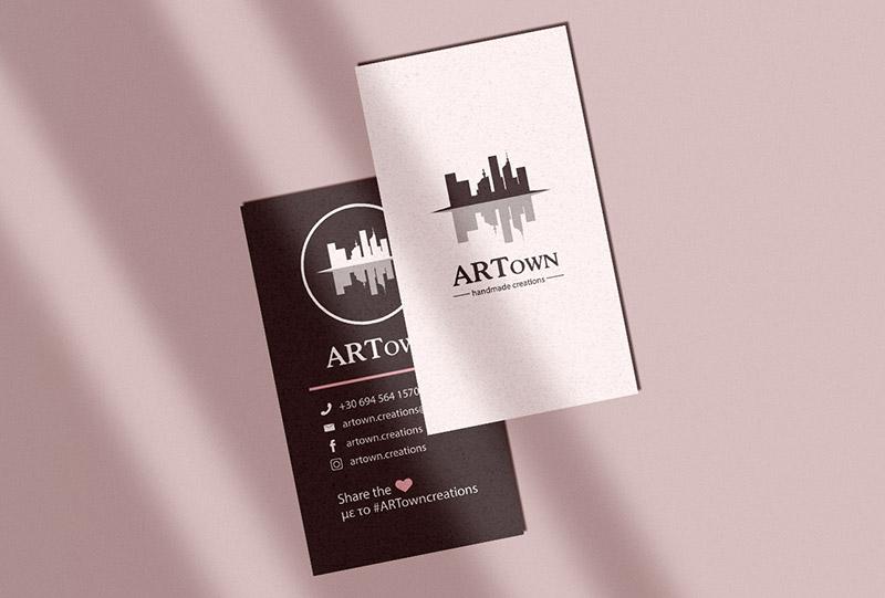 Επαγγελματική κάρτα για την ARTown